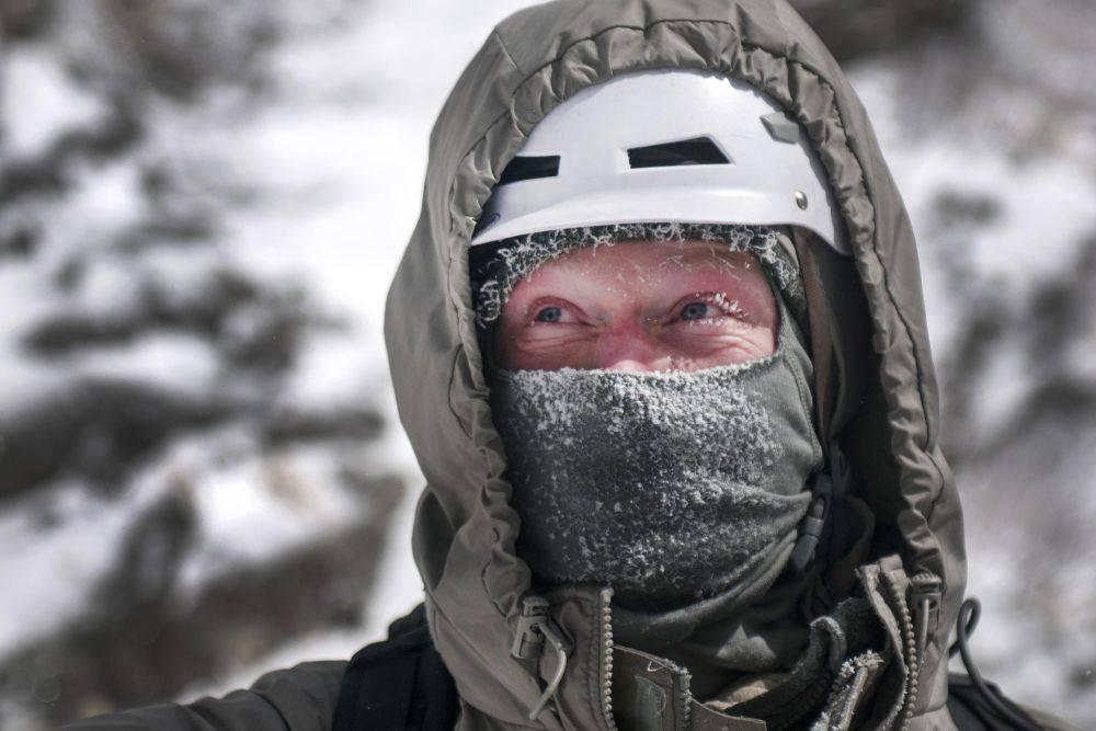 Kominiarka w zimie