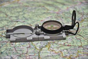 Kompas na mapie