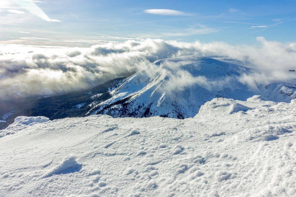 Góry zimą - Śnieżka, Sudety
