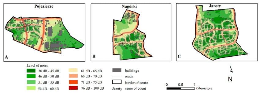 Różne rodzaje map: mapa akustyczna
