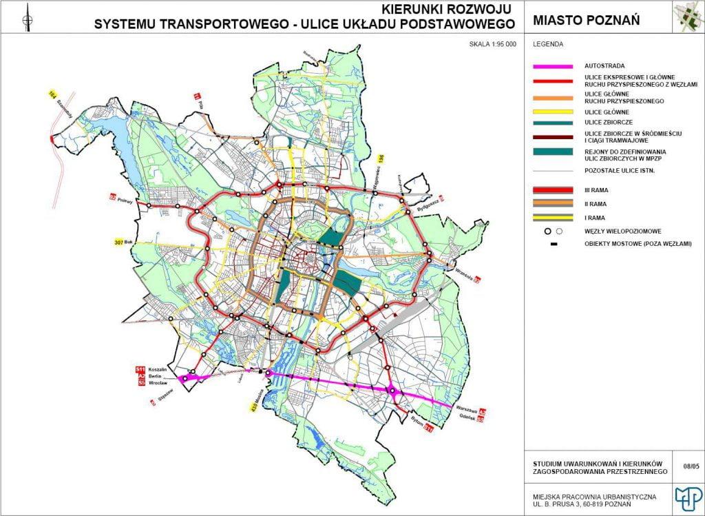Mapa drogowa Poznania