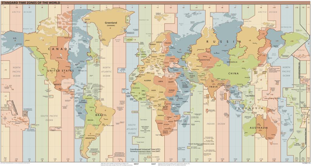 mapa stref czasowych