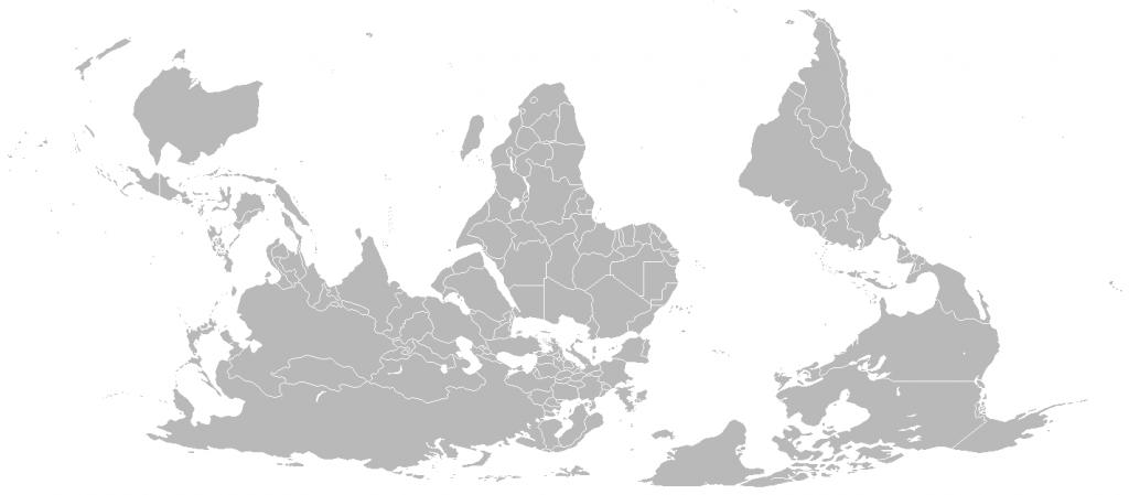 Mapa w orientacji południowej